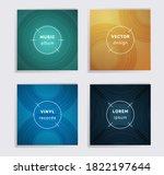 linear plate music album covers ... | Shutterstock .eps vector #1822197644