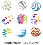 3d abstract color balls with... | Shutterstock .eps vector #182219999