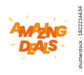 amazing deals shopping offers... | Shutterstock .eps vector #1822216634