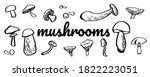 mushroom hand drawing sketch... | Shutterstock .eps vector #1822223051