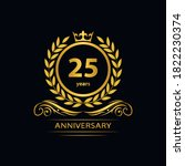 25 years anniversary vector ... | Shutterstock .eps vector #1822230374