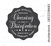 disinfection and cleaning...   Shutterstock .eps vector #1822238681