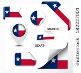made in texas collection of... | Shutterstock .eps vector #182227001