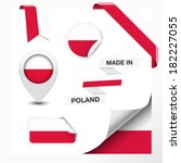 made in poland collection of... | Shutterstock .eps vector #182227055
