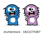 Two Scared Kitten Characters...