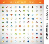 unusual icons set   isolated on ... | Shutterstock .eps vector #182229149