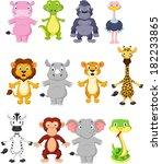 wild animal cartoon | Shutterstock . vector #182233865