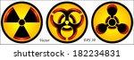 hazard symbols | Shutterstock .eps vector #182234831