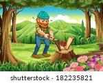 illustration of a hardworking... | Shutterstock .eps vector #182235821