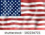 united states flag realisitic... | Shutterstock . vector #182236721