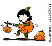 A Cute Girl In A Halloween...