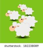 group of sheeps cartoon | Shutterstock .eps vector #182238089