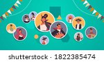 people in different costumes... | Shutterstock .eps vector #1822385474