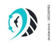 technology sign branding... | Shutterstock .eps vector #182240981
