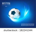 creative soccer vector design | Shutterstock .eps vector #182241344
