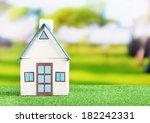 Little House On Green Grass  O...