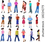 color set of vector people | Shutterstock .eps vector #18224275
