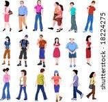 color set of vector people | Shutterstock .eps vector #18224275