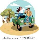 Family On Safari Tour  Flat...