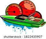 motor boat race vector...   Shutterstock .eps vector #1822435907