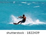 kite surfer on a turquoise... | Shutterstock . vector #1822439