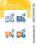 fast delivery premiun icon with ...