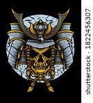 samurai warrior mask.... | Shutterstock .eps vector #1822456307
