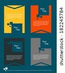 flat modern brochures.