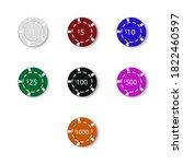 various casino chips  isolated... | Shutterstock .eps vector #1822460597