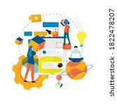 digital content management ... | Shutterstock .eps vector #1822478207