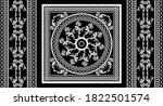 seamless border with baroque... | Shutterstock .eps vector #1822501574