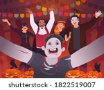 happy halloween. selfie of... | Shutterstock .eps vector #1822519007