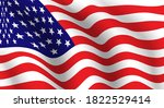 usa national fabric wave flag...   Shutterstock .eps vector #1822529414