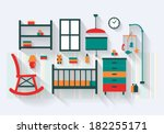 Nursery Or Baby Room With Cot...