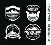 adventure badge and outdoor... | Shutterstock .eps vector #1822568414