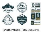 set of vector canoeing logo ... | Shutterstock .eps vector #1822582841