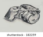 charcoal drawing | Shutterstock . vector #182259