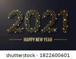 2021 new year illustration made ... | Shutterstock .eps vector #1822600601