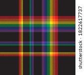 rainbow glen plaid textured...   Shutterstock .eps vector #1822617737