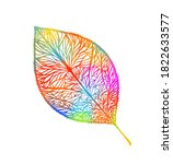 colorful autumn leaf. mixed... | Shutterstock .eps vector #1822633577