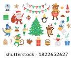vector set of christmas... | Shutterstock .eps vector #1822652627
