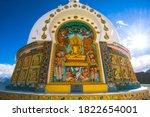Shanti Stupa  A Buddhist White...