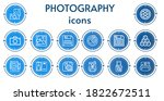 editable 14 photography icons... | Shutterstock .eps vector #1822672511
