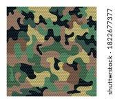 camouflage pattern background... | Shutterstock .eps vector #1822677377