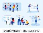 set of business people concepts.... | Shutterstock .eps vector #1822681547