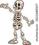 happy cartoon white skeleton... | Shutterstock .eps vector #1822688507