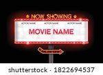 light sign billboard cinema... | Shutterstock .eps vector #1822694537