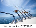 big game fishing  reels and rods | Shutterstock . vector #182271815