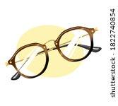 retro glasses with glasses...   Shutterstock .eps vector #1822740854