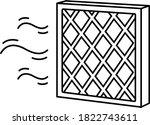 air cleaner filter. vector... | Shutterstock .eps vector #1822743611